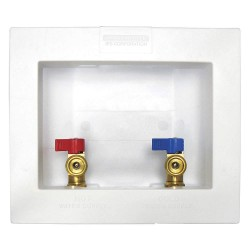 IPS Corporation - W4700 - 5.75 x 4.88 Brass Ice Maker Outlet Box with PEX 1807 Inlet Connection