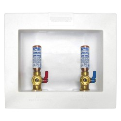 IPS Corporation - W4700HA - 5.75 x 4.88 Brass Ice Maker Outlet Box with Copper Sweat Inlet Connection