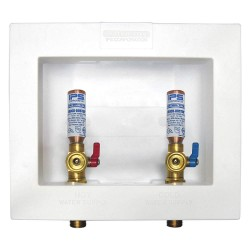 IPS Corporation - W4702HA - 5.75 x 4.88 Brass Ice Maker Outlet Box with PEX 1807 Inlet Connection