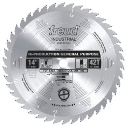 Diablo Tools - LU71M014 - 14 Carbide Wood Cutting Circular Saw Blade, Number of Teeth: 42