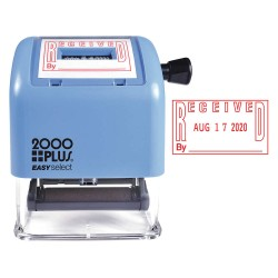 2000PLUS - 011092 - Self-Inking Received and Date Stamp, Number of Bands 4, 1 Character Height