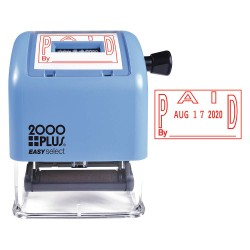 2000PLUS - 011093 - Self-Inking Paid and Date Stamp, Number of Bands 4, 1 Character Height