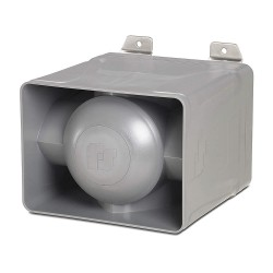 Federal Signal - EHORN-120-240 - 120/240VAC Indoor and Outdoor Electronic Horn, 98 to 116dB, Gray