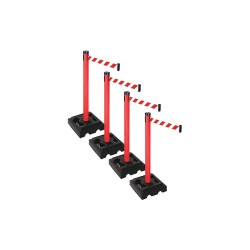 Visiontron - PSBA303PRD-RWD - Barrier Systems, Post Red, 10 ft. Belt
