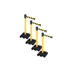 Visiontron - PSBA322PYW-BYD - Barrier Systems, Post Yellow, 15 ft. Belt
