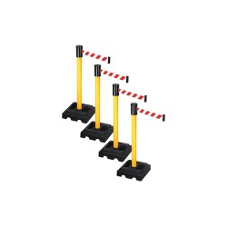 Visiontron - PSBA322PYW-RWD - Barrier Systems, Post Yellow, 15 ft. Belt
