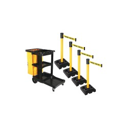 Visiontron - PSBK323PYW-DKO - Barrier Systems, Post Yellow, 15 ft. Belt