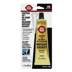Ductmate Industries - 78002 - Gasket Maker Copper RTV Silicone Sealant, 3 oz.