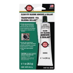 Ductmate Industries - 80065 - Sealant Clear RTV Silicone Sealant, 1 oz.