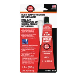 Ductmate Industries - 80724 - Gasket Maker Red RTV Silicone Sealant, 1 oz.