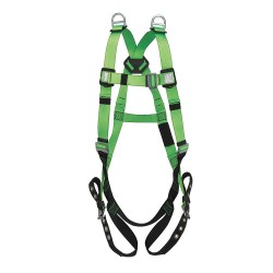 SureWerx - V8002230 - Contractor Full Body Harness with 310 lb. Weight Capacity, Green, Universal