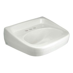Zurn - Z5344 - Vitreous China Wall Hung Laboratory Sink Without Faucet, 16-1/2 Bowl Size