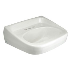 Zurn - Z5348 - Vitreous China Wall Hung Laboratory Sink Without Faucet, 16-1/2 Bowl Size