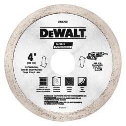 Dewalt - DW4790 - 4 Wet/Dry Diamond Saw Blade, Segmented Rim Type