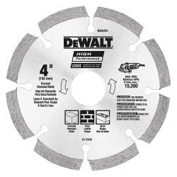 Dewalt - DW4781 - 4 Dry Diamond Saw Blade, Segmented Rim Type