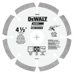 Dewalt - DW4782 - 4-1/2 Dry Diamond Saw Blade, Segmented Rim Type