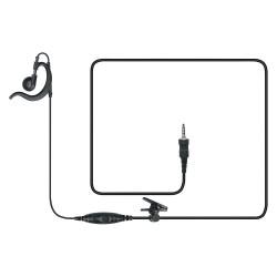 Vertex Standard - MH89A4B - Ear Loop Earpiece, Black, Plastic