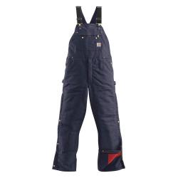 "Carhartt - R41-DNY 38 32 - Men's Bib Overalls, Lining Material: Nylon Quilted Polyester, Inseam: 32"", Fits Waist Size: 38"", Nav"
