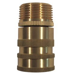 Columbia Sanitary Products - N28 - Brass Hose Adapter, For Use With Nozzles and Hose