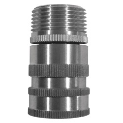 Columbia Sanitary Products - N28S - Stainless Steel Hose Adapter, For Use With Nozzles and Hose