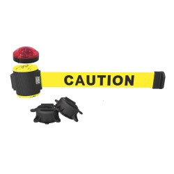 Banner Stakes - MH5001L - Belt Barrier w/Light Kit, Yellow, Caution