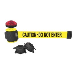 Banner Stakes - MH5002L - Belt Barrier w/Light Kit, Yellow, Caution - Do Not Enter