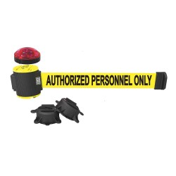 Banner Stakes - MH5003L - Belt Barrier w/Light Kit, Yellow, Authorized Personnel Only