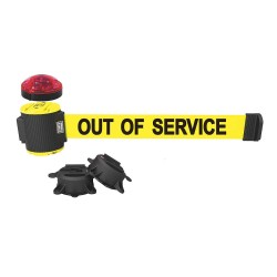 Banner Stakes - MH5005L - Belt Barrier w/Light Kit, Yellow, Out of Service