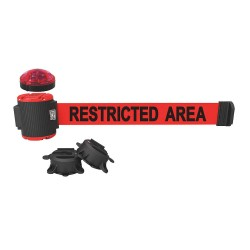 Banner Stakes - MH5008L - Belt Barrier w/Light Kit, Red, Restricted Area