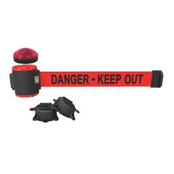 Banner Stakes - MH5009L - Belt Barrier w/Light Kit, Red, Danger - Keep Out