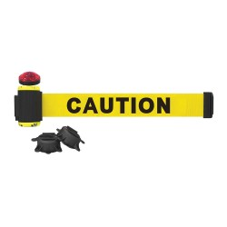 Banner Stakes - MH7001L - Belt Barrier w/Light Kit, Yellow, Caution