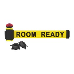Banner Stakes - MH7011L - Belt Barrier w/Light Kit, Yellow, Room Ready