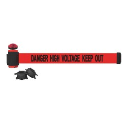 Banner Stakes - MH7009L - Belt Barrier w/Light Kit, Red, Danger High Voltage Keep Out