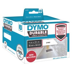 DYMO - 1933085 - Dymo Barcode Label - 3/4 Width x 2 33/64 Length - Direct Thermal - White - Plastic - 900 / Roll - 900 Total Label(s) - 1 Roll