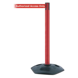 Tensator - 886-21-STD-NO-RAX-C - Barrier Post, PVC Post, Red Finish