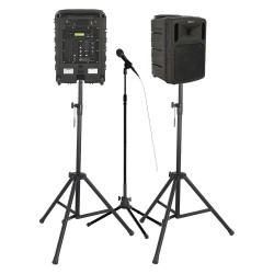AmpliVox - B8004 - 16 Channel Wireless Wireless Portable Sound System Bundle with 300 ft. Wireless Range
