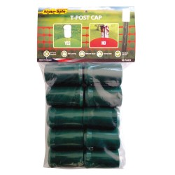 Stake Safe - 1007G - Post Cap, Green, 2 dia., PK10