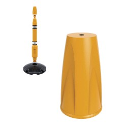Skipper - POST05-Y - 3-35/64 Plastic Post Cap, Yellow
