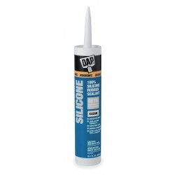 Dap - 08641 - Clear Rubber Sealant, Silicone, 9.8 oz. Cartridge