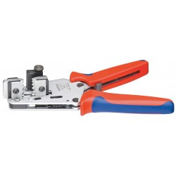 Knipex Tools - 12 12 11 - 7-3/4 Solid and Stranded Cable Stripper, 15 to 10 AWG Capacity