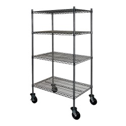 Other - 5AHE0 - 36L x 36W x 69H Stainless Steel Wire Cart, 800 lb. Load Capacity