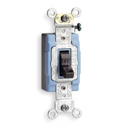 Leviton - 1201-2 - Leviton 1201-2 Single-Pole Toggle Switch, 15A, 120/277V, Brown, Industrial Grade