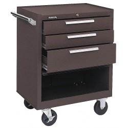 "Kennedy - 273XB - Brown Rolling Cabinet, Industrial, Heavy Duty, Width: 27"", Depth: 18"", Height: 35"""