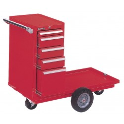 "Kennedy - 435XR - Red Combination Tool Chest/Cabinet, Industrial, Heavy Duty, Width: 43-1/8"", Depth: 20-1/4"", Height:"