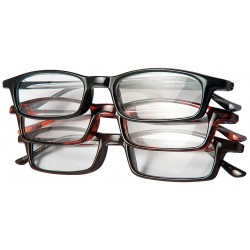 Optx 20/20 - 3PK+200 - Clear Scratch-Resistant Reading Glasses, +2.00 Diopter