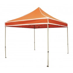 Other - 5DFL9 - Hi Viz Orange Instant Canopy, 9 ft. 8 Length, 11 ft. Width, 10 ft. 2 to 11 ft. 3 Center Height
