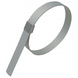 Band-IT - GRP249 - Galvanized Carbon Steel Preformed Band Clamp, PK of 10