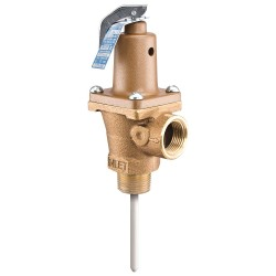 Watts Water Technologies - 3/4 LF 40 L - Temperature and Pressure Relief Valve, 180, 000 BtuH, 125 psi, 5 Thermostat Length