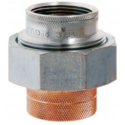 Watts Water Technologies - 1/2 LF 3005-1/2A - 1/2 Brass, Malleable Iron Dielectric Union with MIP x Solder Fitting Connection Type