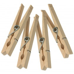 Honey-can-do - DRY-01376 - Wooden Clothespins, Spring, 100 PK
